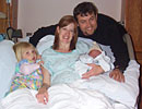 Family of 4, 30 min. after Tucker is born.
